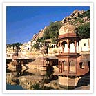 City Palace Tank and chattris Alwar Rajasthan India